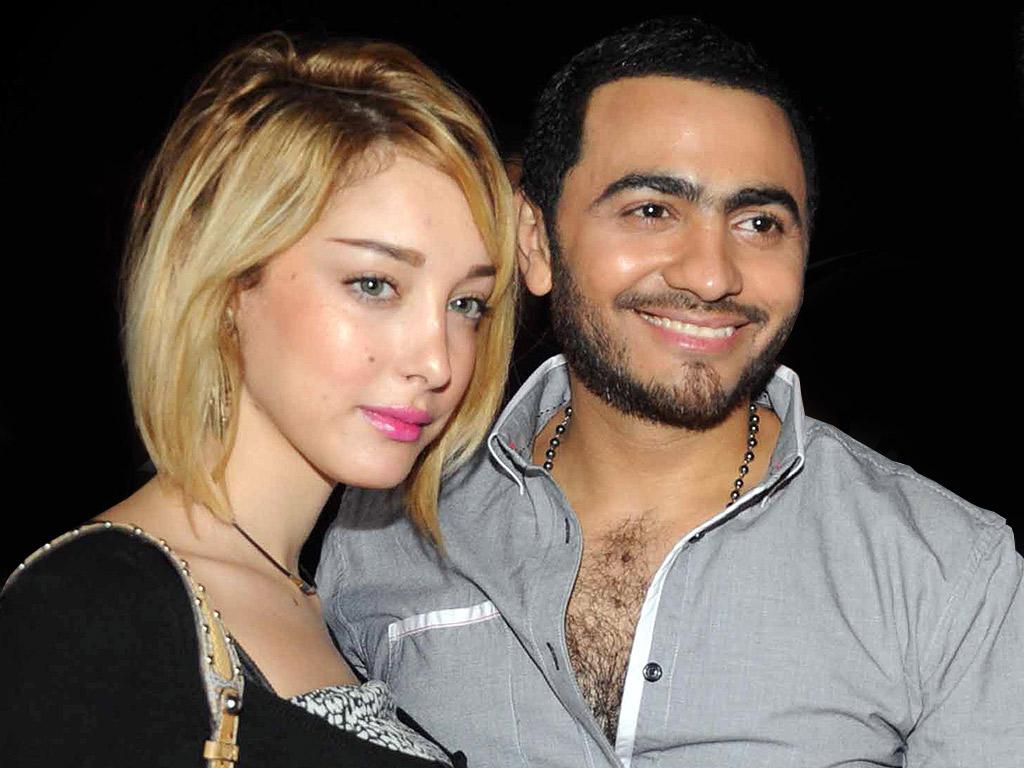 خاص: زيارة سرية لبسمة بوسيل وزوجها تامر حسني إلى بيروت