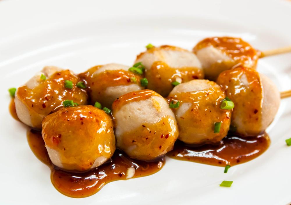 كرات الدجاج الشهية على الطريقة الصينية
