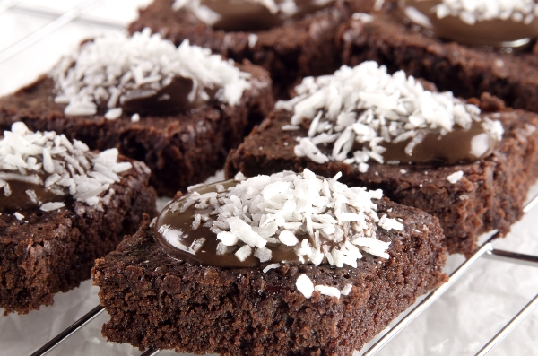 وصفة البسبوسة بالشوكولاتة