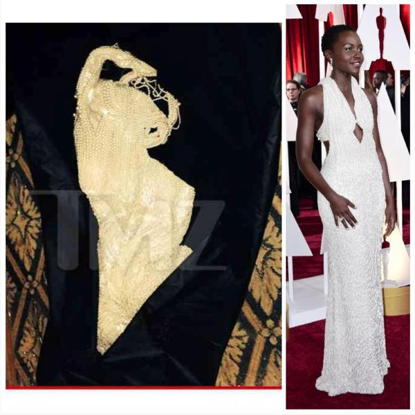 فستان لوبيتا نيونغو في حفل الأوسكار يُسرق ثم يُعاد إليها!