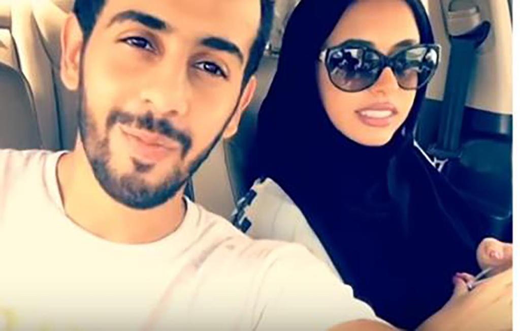 عروسان سعوديان يزفان بالزلاجات مجلة سيدتي