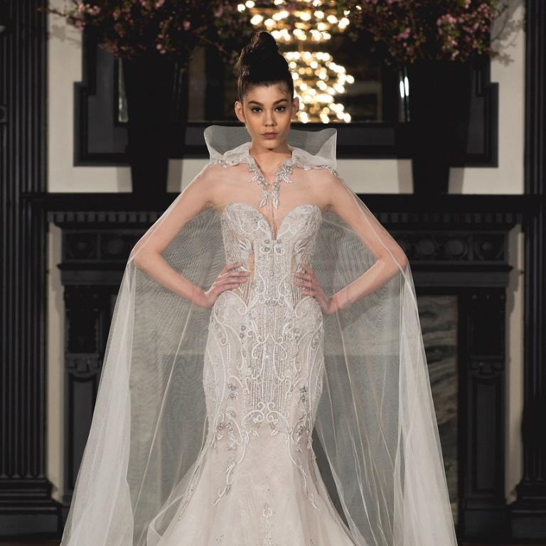 b8f8c18782752 فساتين زفاف مطرزة لعروس 2019