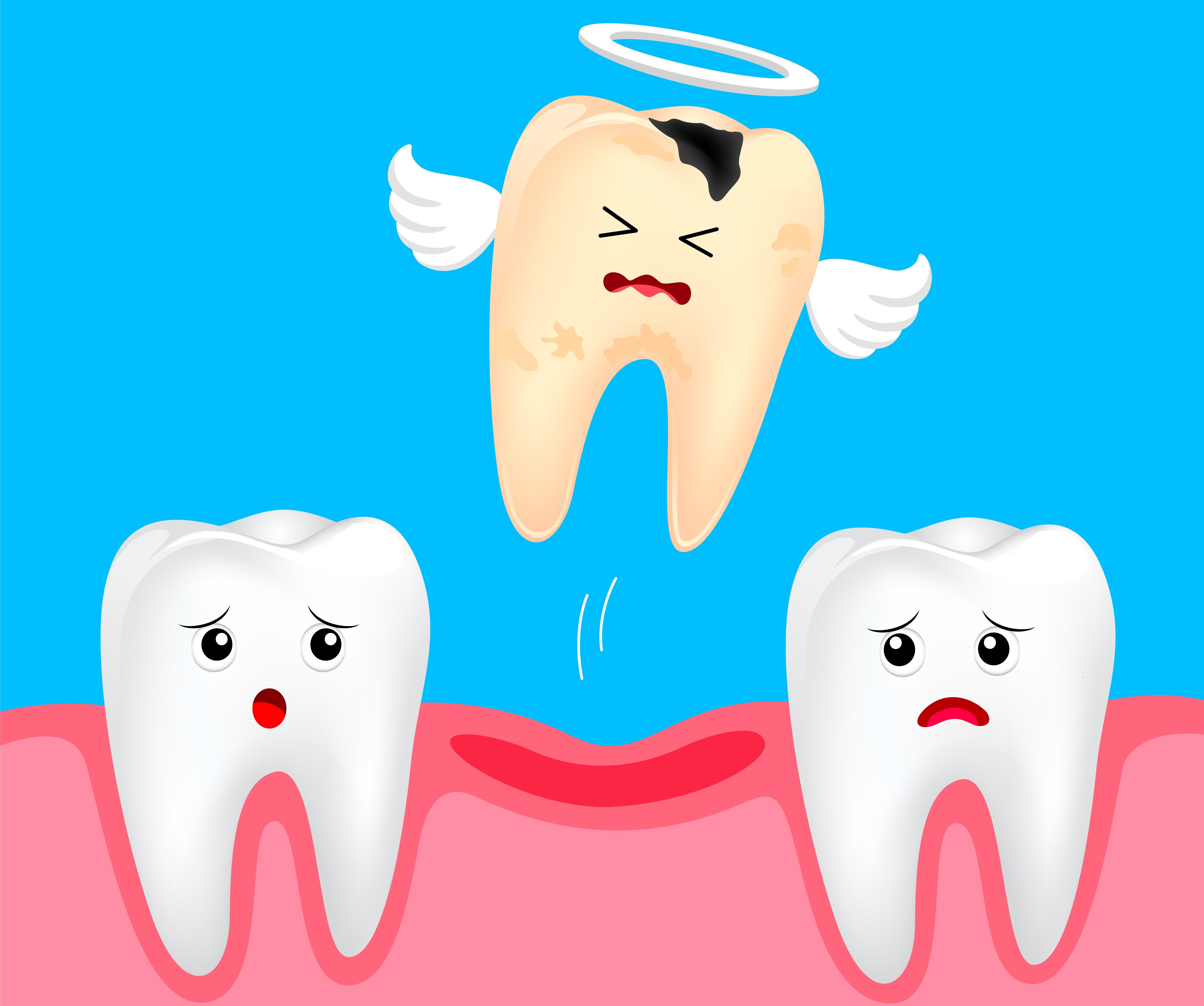 Открытка зубик не боли, днем