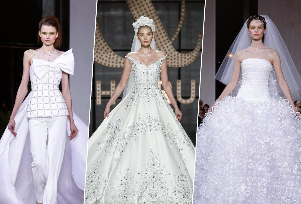 7f2f146596871 فساتين زفاف 2019 من أسبوع الهوت كوتور في باريس