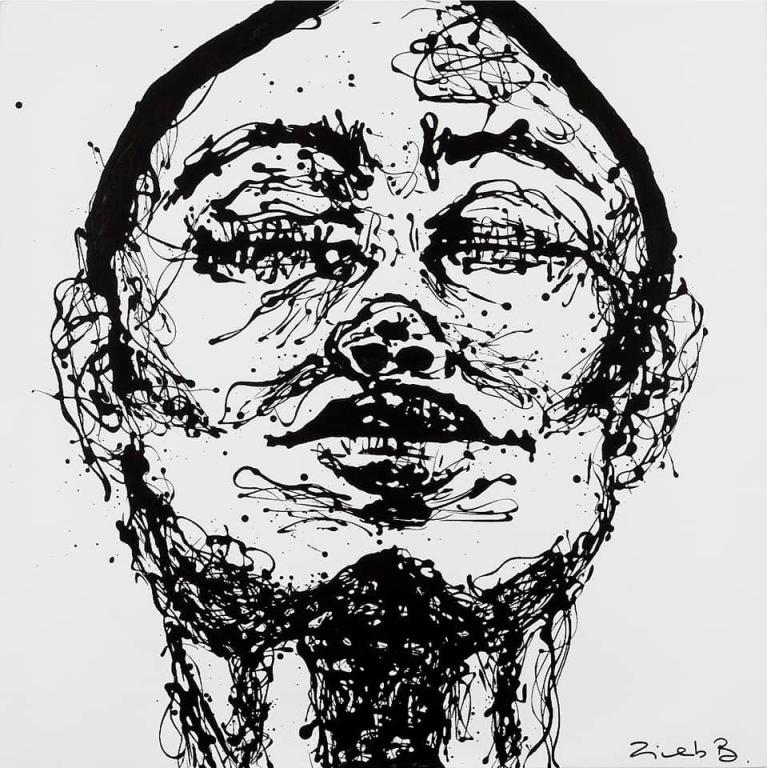 لوحة لزينب ابنة البطلةنوال المتوكل
