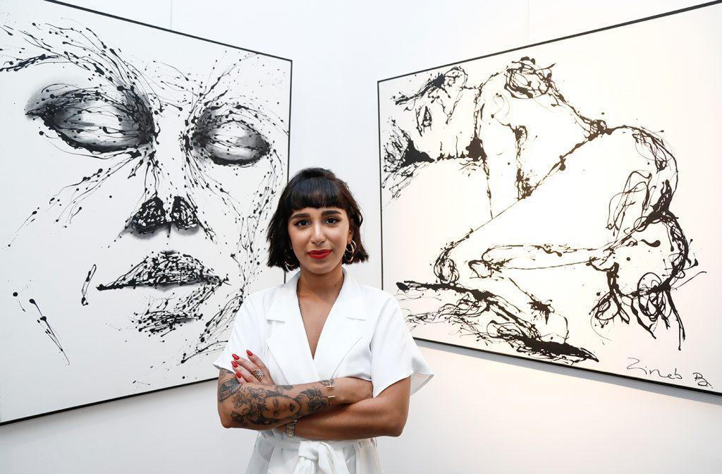 الفنانة التشكيلية زينب بنيس