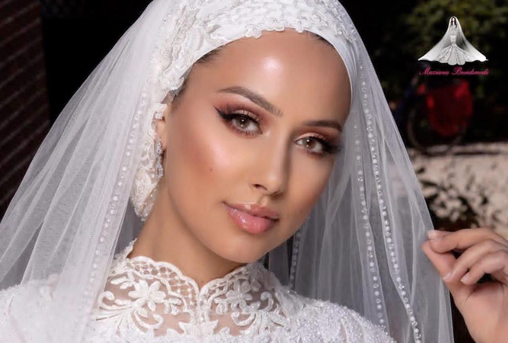 مكياج عروس محجبة بألوان ترابية   مجلة سيدتي