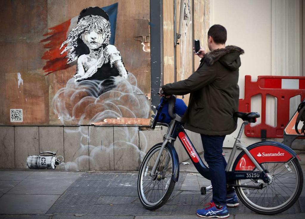 فن الشوارع بمباركة رجال الشرطة في لندن