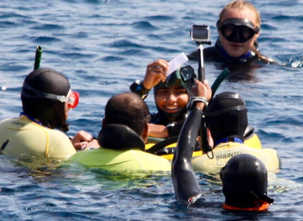 رقم قياسي في الغوص الحر بين نساء الخليج