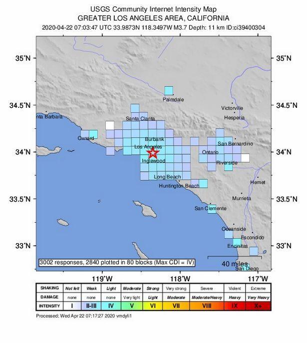 زلزال يضرب كاليفورنيا بقوة 3،7 درجة   مجلة سيدتي