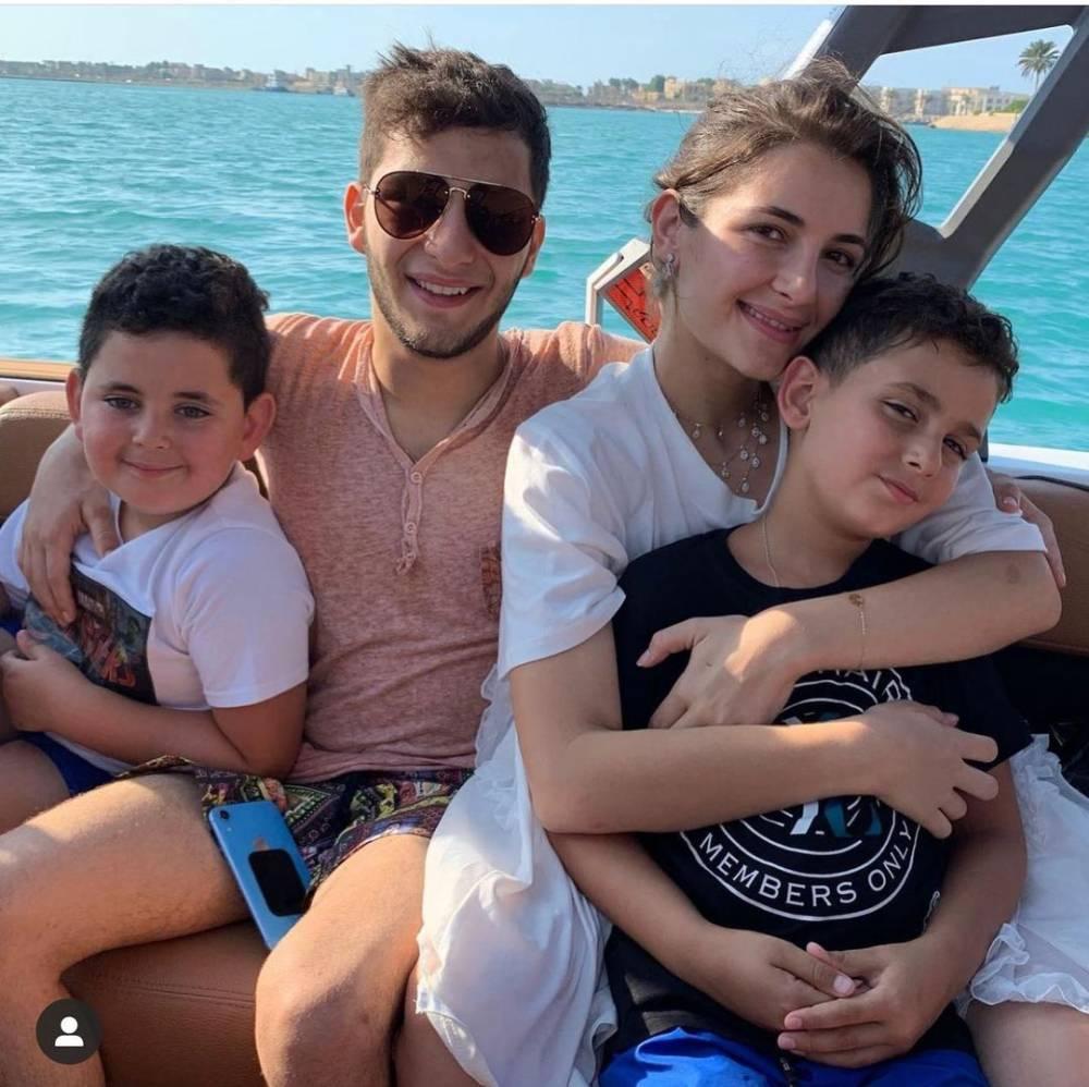 أبناء أصالة - الصورة من حسابها على انستغرام