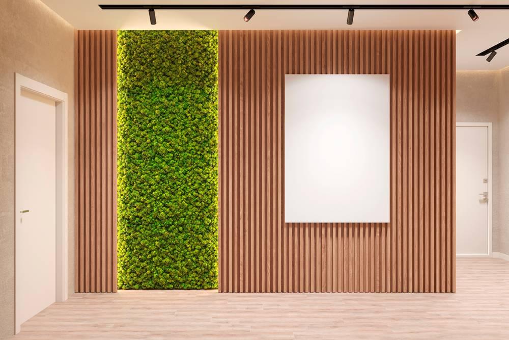الجدران الخشب لافتة في ديكورات المداخل