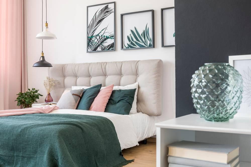 الأخضر لون مرغوب في غرفة النوم