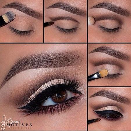 مكياج عيون سموكي مع رسمة الايلاينر