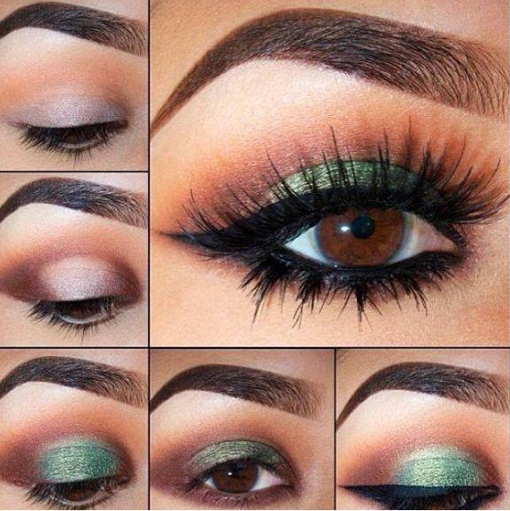 تطبيق مكياج عيون سموكي مع رسمة ايلاينر