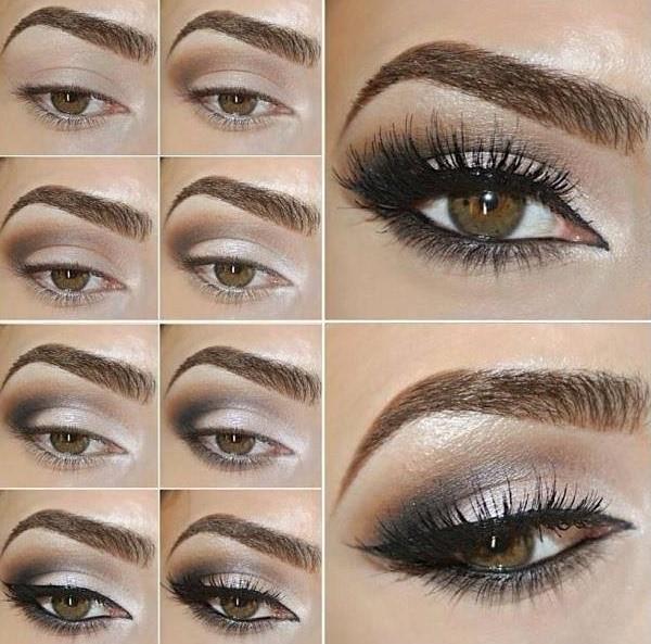 مكياج عيون سموكي مع رسمة ايلاينر