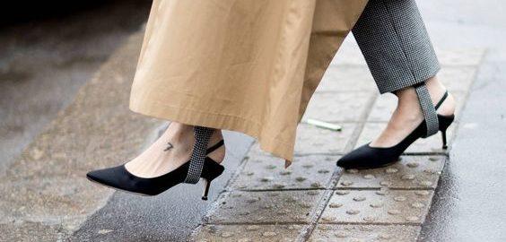 موضة احذية كعب القطة