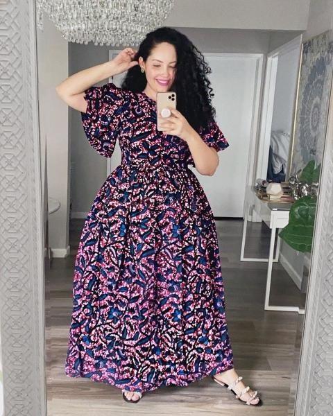 فستان مشجر منفوش