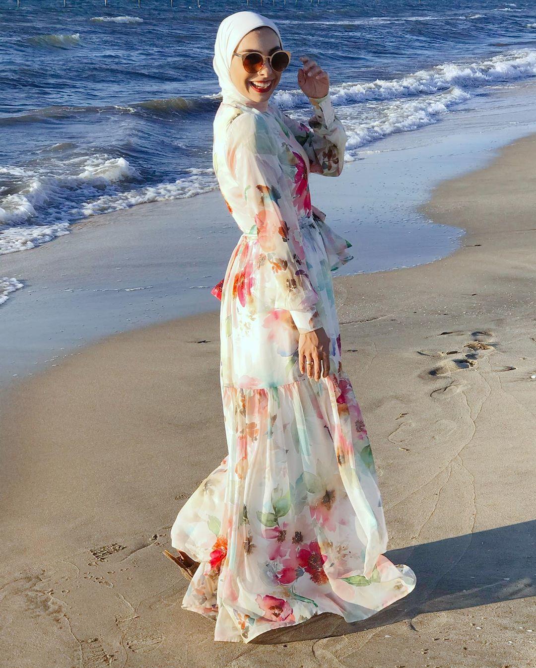 فستان مورد للسهرة