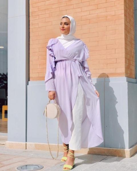فستان WRAP  مفتوح من الامام