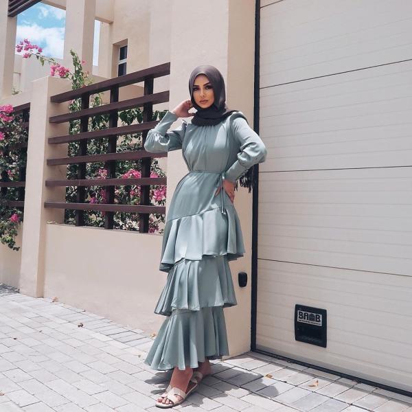 فستان طبقات للمحجبات