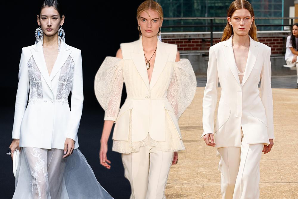 بدلة التوكسيدو البيضاء