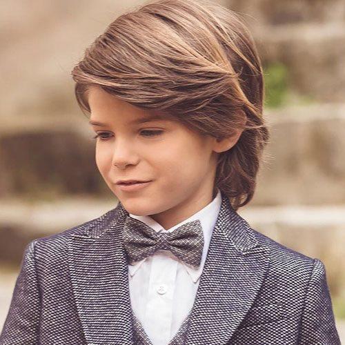 الشعر الطويل قصات شعر اطفال اولاد طويل