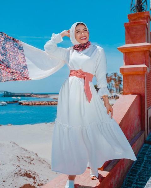 تنسيق الابيض مع الحجاب