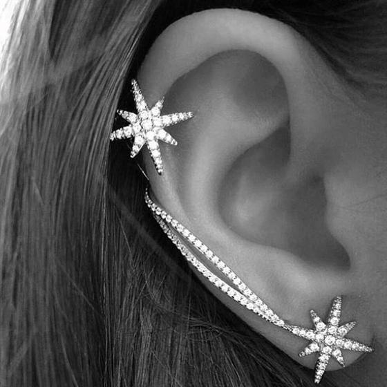 Ear Cuffبهئية النجوم