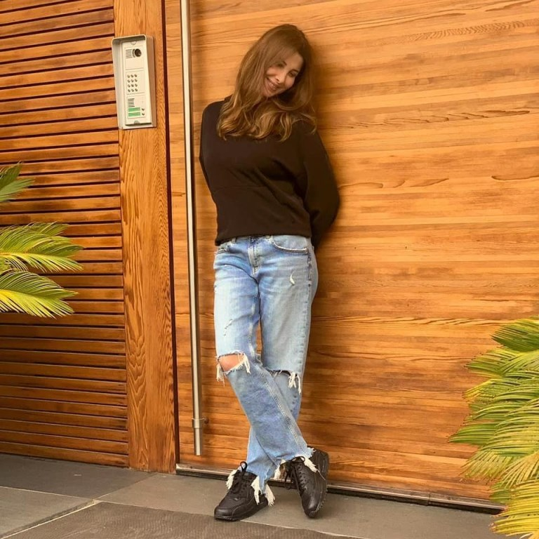 تنسيق السروال وزيادة الطول باسلوب نانسي عدرم