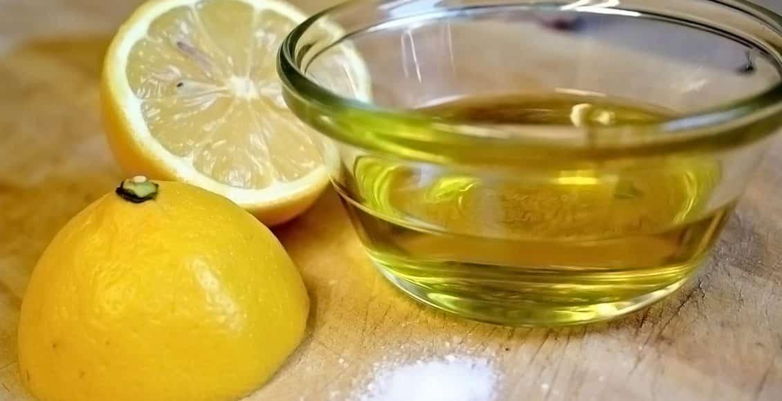 وصفة زيت الزيتون وعصير الليمون
