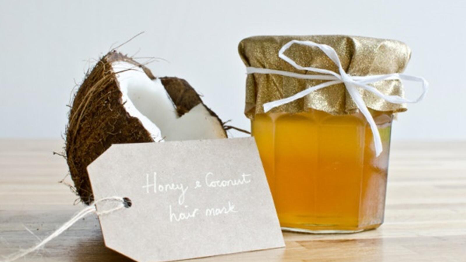 زيت جوز الهند والعسل