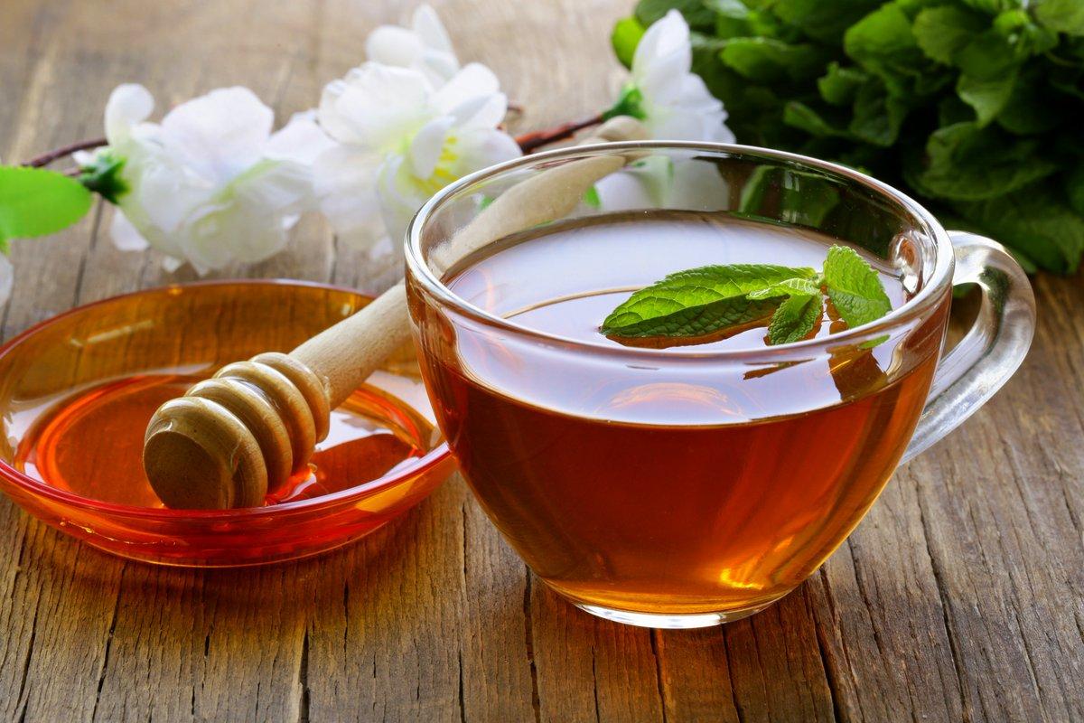 الشاي الأخضر والعسل