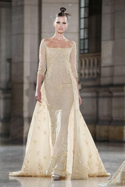 فستان خطوبة كم طويل