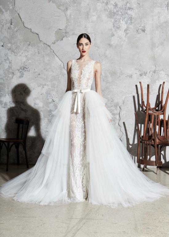 فستان زفاف عمودي