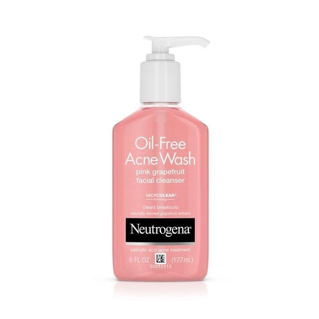 غسول Oil Free Acne Wash Pink Grapefruit من Neutrogena