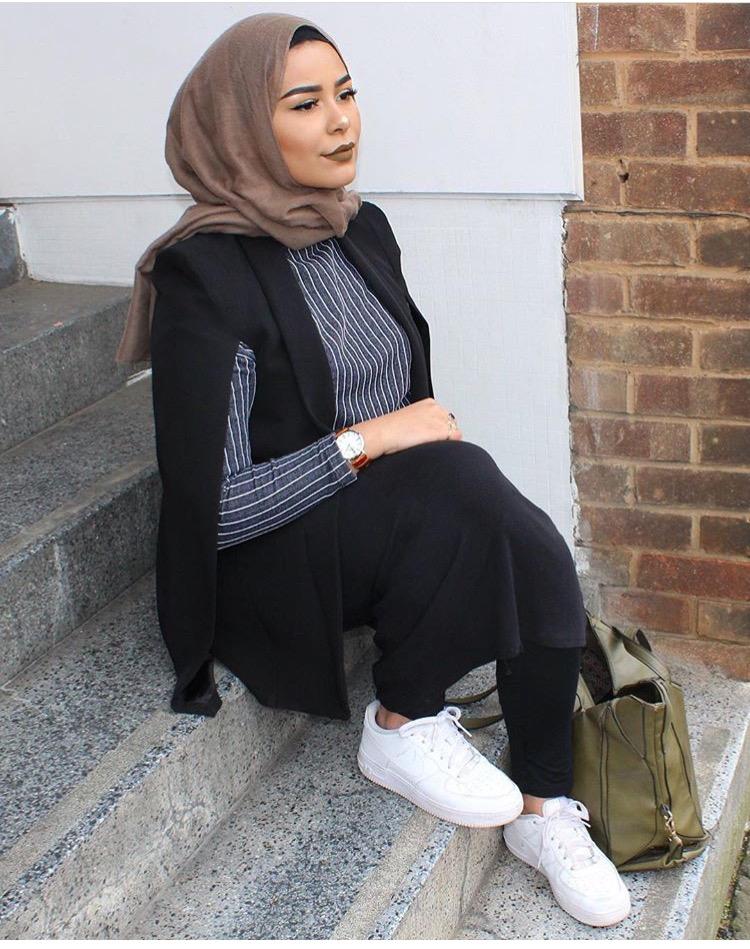لفات حجاب شيفون بطريقة بسيطة