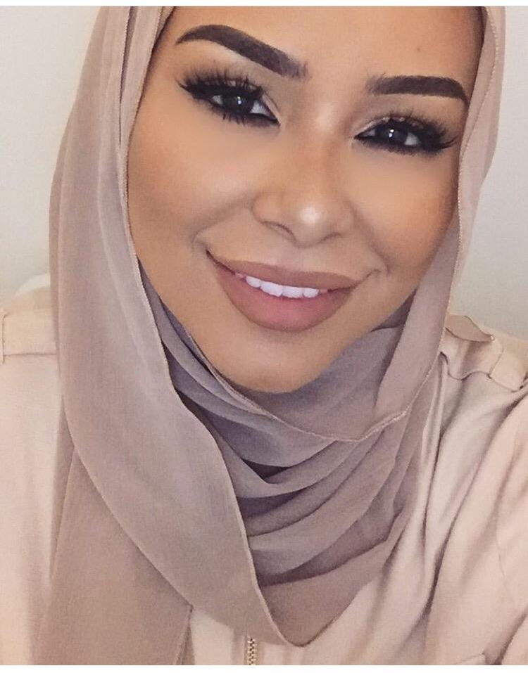لفات حجاب شيفون سهلة