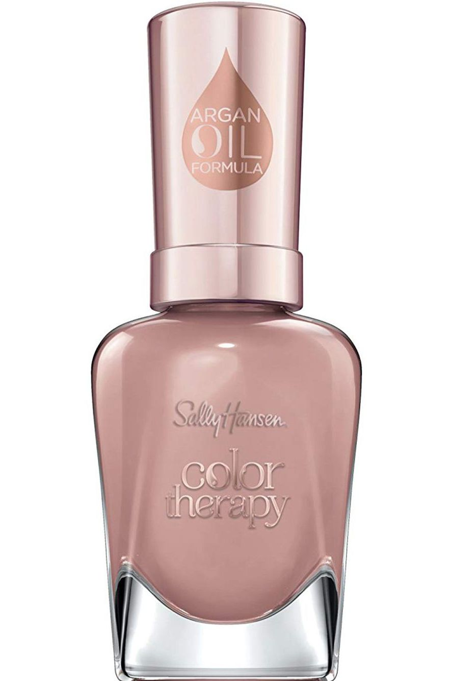 النود الأنثوي من Sally Hansen Color Therapy Nail Polish in Blushed Petal