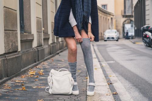 الجوارب الطويلة ترند