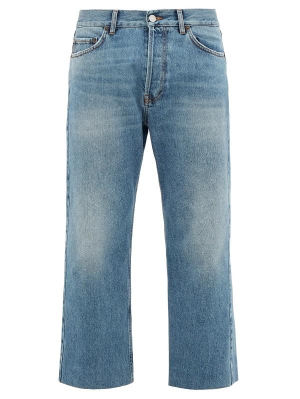 سروال جينز بأرجل عريضة جداً بتصميم تقليدي من Balenciaga
