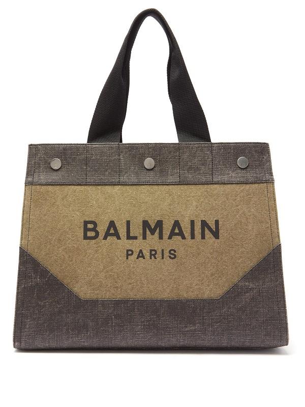 حقيبة سفر بتصميم تقليدي كبيرة الحجم من Balmain