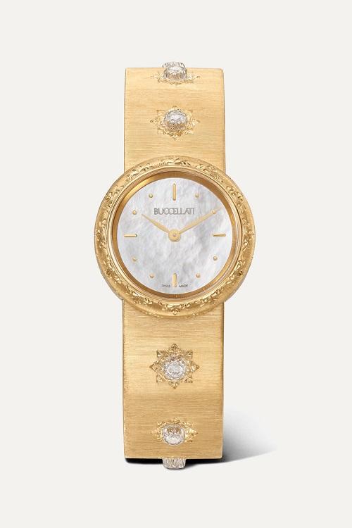 ساعة من الذهب الأصفر مرصعة بالماس من Buccellati