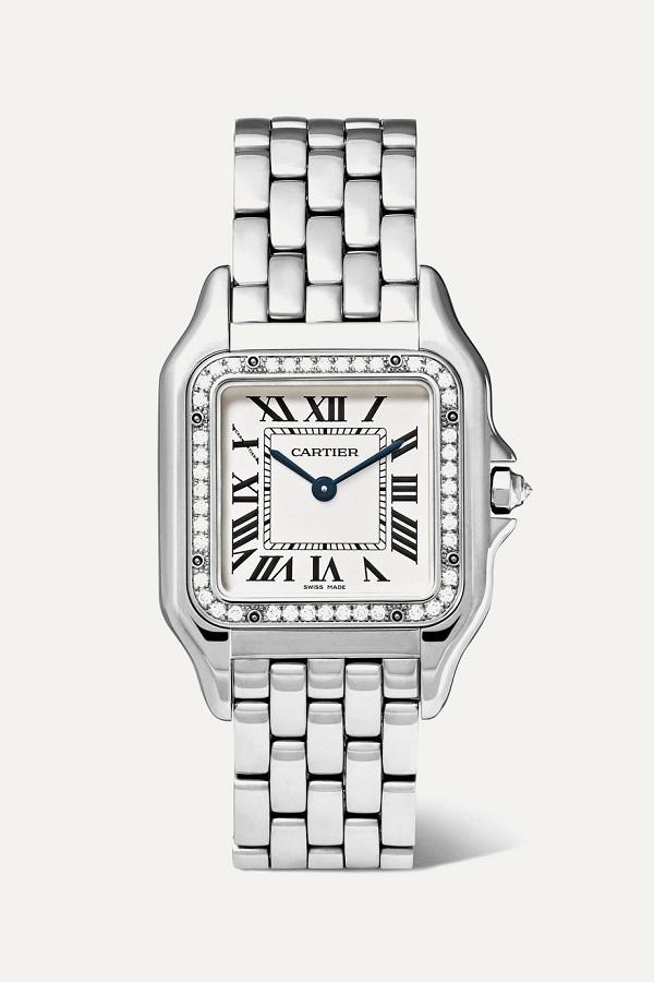 ساعة سيلفر بتصميم المستطيل من Cartier