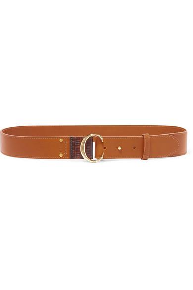 حزام بتصميم مميز باللون البني من Chloé
