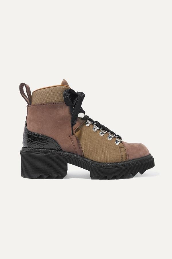 حذاء بوت قصير بتصميم عصري مميز من chloe