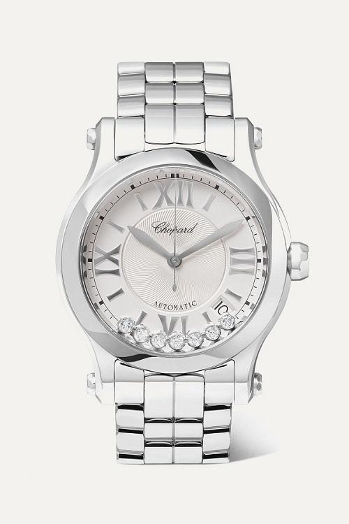 ساعة سيلفر بتصميم دائري أنيق من Chopard