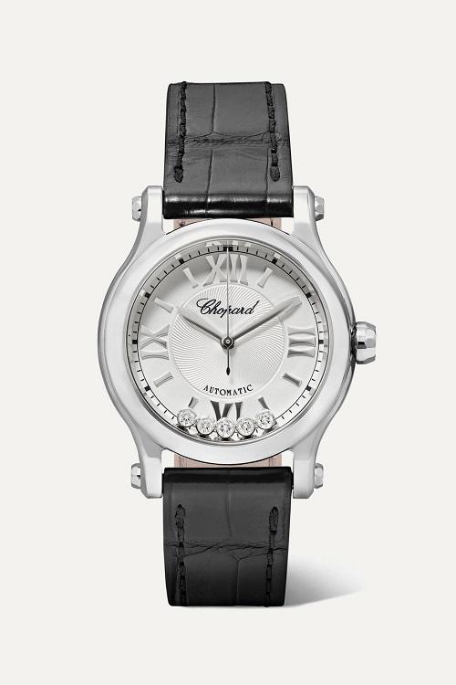 ساعة باللون الأسود بتصميم أنيق من Chopard