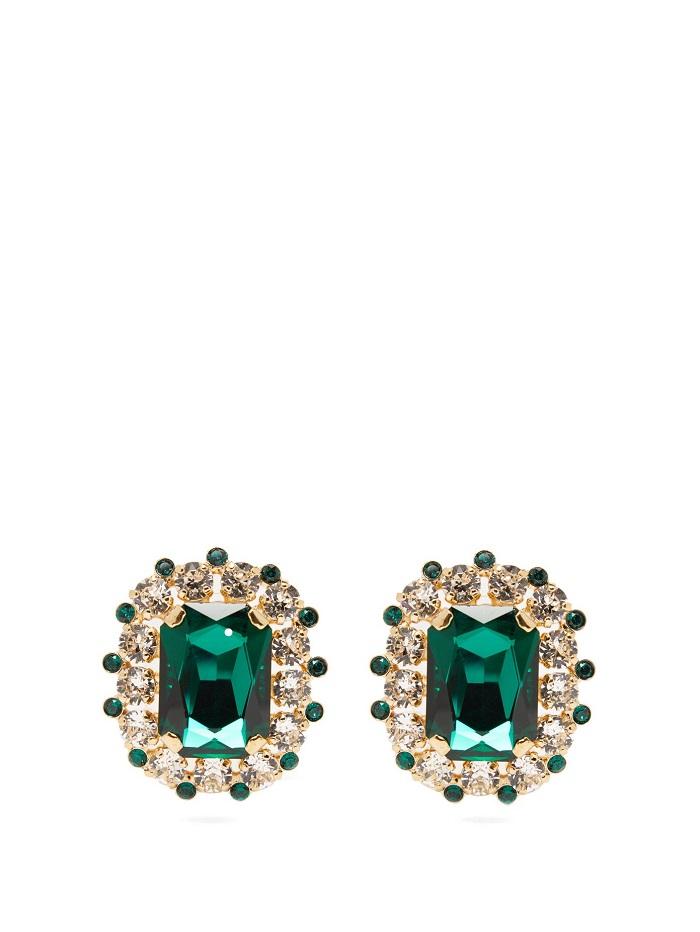 أقراط بأحجار الزمرد الأنيقة من Dolce and Gabbana