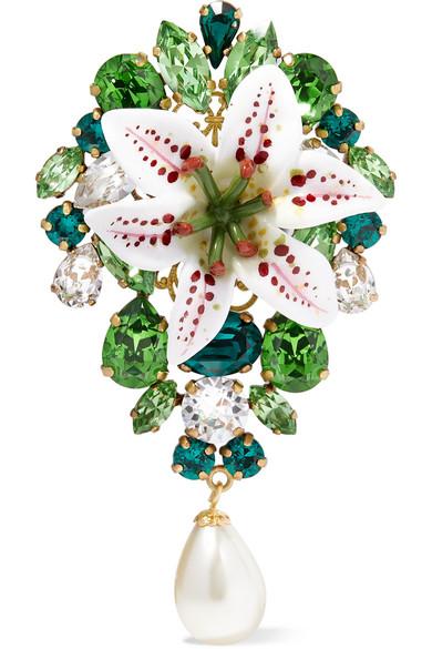 بروش بتصميم مميز مع حبة اللؤلؤ من Dolce and Gabbana